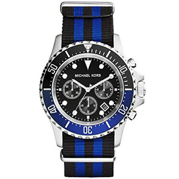 マイケルコース Michael Kors メンズ 腕時計 時計 Michael Kors #MK8398 Men's Everest Crosgrain Fabric Band Chronograph Watch