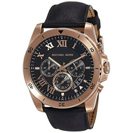 4da48dd1b870 マイケルコース Michael Kors メンズ 腕時計 時計 Michael Kors Brecken Black Dial Mens  Chronograph Watch MK8544