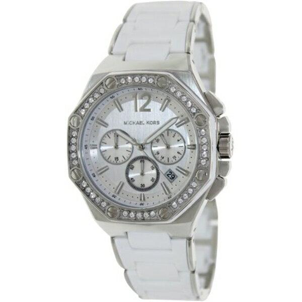マイケルコース Michael Kors レディース 腕時計 時計 Michael Kors MK5563 Women's Stainless Steel Chronograph Quartz Silver Dial Swarovski Crystals Silicone Band Watch