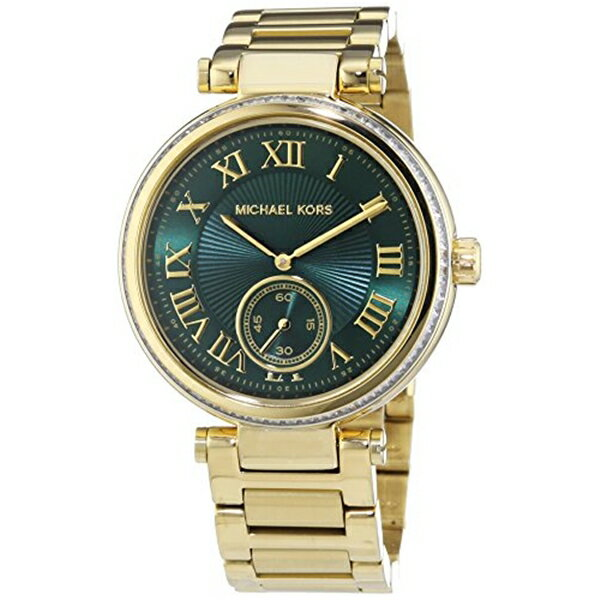 マイケルコース Michael Kors レディース 腕時計 時計 Michael Kors MK6065 Ladies Skylar Green Gold Watch