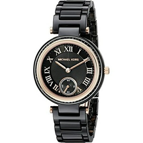 マイケルコース Michael Kors レディース 腕時計 時計 Michael Kors Women's Mini Skylar Black Watch MK6242