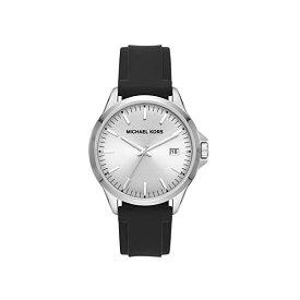 マイケルコース 腕時計 ウォッチ 男性用 メンズ Michael Kors Men's Penn Stainless Steel Quartz Watch with Silicone Strap, Black, 22 (Model: MK7070)