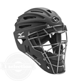 【USAミズノ サムライ G4シリーズ 硬式用 ホッケー型キャッチャーマスク 阿部モデル ブラック Mizuno G4 Samurai Catcher's Helmet Black】