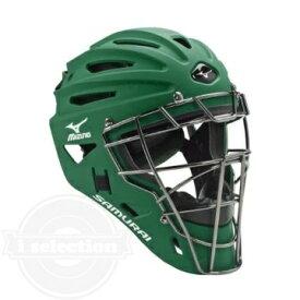 【USAミズノ サムライ G4シリーズ 硬式用 ホッケー型キャッチャーマスク 阿部モデル フォレスト グリーン Mizuno G4 Samurai Catcher's Helmet Forest】