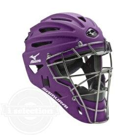【USAミズノ サムライ G4シリーズ 硬式用 ホッケー型キャッチャーマスク 阿部モデル パープル Mizuno G4 Samurai Catcher's Helmet Purple】