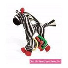 ノースアメリカンベア North American Bear Tickly Toy Zebra Ring Toy, Black/White (Discontinued by Manufacturer) ぬいぐるみ ベビー トイ