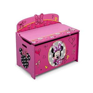 ミニーマウス ディズニー おもちゃ 収納 おもちゃ箱 お片付け 収納 ベンチ キッズ ボックス 子供 部屋 おしゃれ 入学祝 入園祝 卒園祝 お誕生日 プレゼント Delta Children Deluxe Toy Box, Disney Minnie M