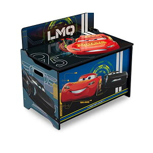 カーズ ディズニー ピクサー おもちゃ 収納 おもちゃ箱 お片付け 収納 ベンチ キッズ ボックス 子供 部屋 おしゃれ 入学祝 入園祝 卒園祝 お誕生日 プレゼント Delta Children Deluxe Toy Box, Disney/Pixa