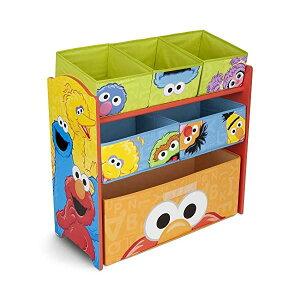 セサミストリート エルモ おもちゃ 収納 おもちゃ箱 お片付け スリム ラック 棚 収納 キッズ ボックス 子供 部屋 おしゃれ 入学祝 入園祝 卒園祝 お誕生日 プレゼント Delta Children 6-Bin Toy Storage