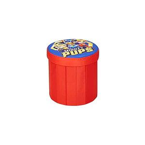 パウパトロール おもちゃ 収納 おもちゃ箱 お片付け 収納 キッズ ボックス ベンチ 椅子 子供 部屋 おしゃれ 入学祝 入園祝 卒園祝 お誕生日 プレゼント Paw Patrol Mighty Pups Round Storage Pouf