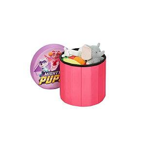 パウパトロール 女の子 おもちゃ 収納 おもちゃ箱 お片付け 収納 キッズ ボックス ベンチ 椅子 子供 部屋 おしゃれ 入学祝 入園祝 卒園祝 お誕生日 プレゼント Paw Patrol Skye Round Storage Pouf