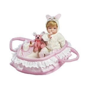 パラダイスギャラリーズ ベビードール 赤ちゃん 人形 着せ替え リアル 本物そっくり おままごと おもちゃ Paradise Galleries Real Looking Baby Doll Girl Molly & Fluffy - 17 inch Ensemble Comes with Bassinet & Accessori