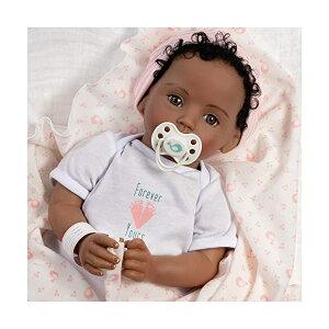 パラダイスギャラリーズ ベビードール 赤ちゃん 人形 着せ替え リアル 本物そっくり おままごと おもちゃ Paradise Galleries Realistic Newborn Baby Doll Girl with Rooted Hair - Forever Yours Beloved, 7-Piece Reborn Dol