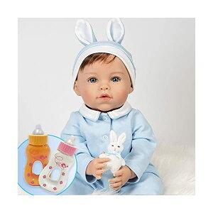 パラダイスギャラリーズ ベビードール 赤ちゃん 人形 着せ替え リアル 本物そっくり おままごと おもちゃ Paradise Galleries Bundle Realistic Easter Toddler Boy Doll - Honey Bunny, 6-Piece Reborn Doll Gift Set with Mag