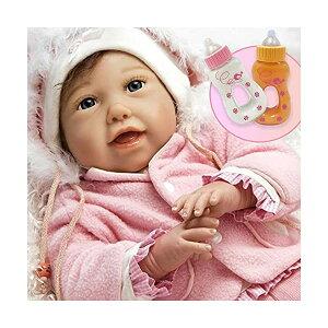 パラダイスギャラリーズ ベビードール 赤ちゃん 人形 着せ替え リアル 本物そっくり おままごと おもちゃ Paradise Galleries Bundle Cuddle Bear Bella Real Baby Doll. 21 inch Weighted Reborn Baby Doll with 5-Piece Baby