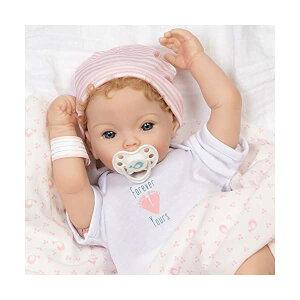 パラダイスギャラリーズ ベビードール 赤ちゃん 人形 着せ替え リアル 本物そっくり おままごと おもちゃ Paradise Galleries Realistic Newborn Baby Doll Girl with Rooted Hair - Forever Yours Golden, 7-Piece Reborn Doll