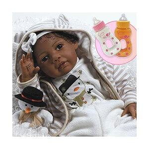 パラダイスギャラリーズ ベビードール 赤ちゃん 人形 着せ替え リアル 本物そっくり おままごと おもちゃ Paradise Galleries Bundle Reborn African American Black Baby Doll Kione, 20 inch Girl in Soft Vinyl & Weighted B