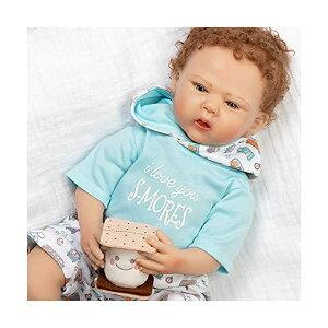 パラダイスギャラリーズ ベビードール 赤ちゃん 人形 着せ替え リアル 本物そっくり おままごと おもちゃ Paradise Galleries Reborn Baby Doll with Rooted Hair & Magnetic Pacifier - I Love You S-Mores - 20 inch Realisti