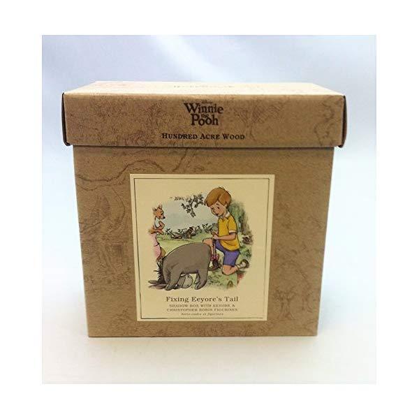 ディズニー プーと大人になった僕 くまのプーさん イーヨー フィギュア 人形 ダイキャスト Hallmark 1HUN2023 - Hundred Acre Wood Fixing Eeyore's Tail Shadow Box W/ Figurine