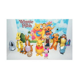 ディズニー プーと大人になった僕 くまのプーさん フィギュア 人形 セット Disney Winnie the Pooh Deluxe Figure Set of 12 with Pooh, Christopher Robin, Piglet, Tiger, Pot of Honey, Kanga, Roo and More!