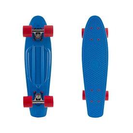 """スケートボード スケボー クルーザー コンプリート レトロスペック 直輸入 海外モデル Retrospec Quip Skateboard 22.5"""" & 27"""" Classic Plastic Mini Cruiser Complete Skate Board , Blue/Red"""