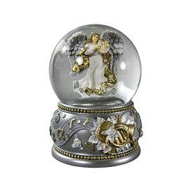 スノードーム 天使 エンジェル クリスマス プレゼント サンタクロース ツリー Silver & Gold Revolving Angel 100mm Water Globe San Francisco Music Box