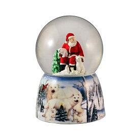 スノードーム クリスマス プレゼント サンタクロース ツリー Santa with Animal Friends Water Globe San Francisco Music Box