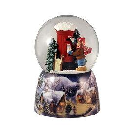 スノードーム ポスト 男の子 クリスマス プレゼント サンタクロース ツリー Boy by Mailbox Holiday Water Globe San Francisco Music Box