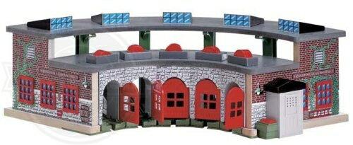 【ラーニングカーブ きかんしゃトーマス 木製レール デラックス操車場 99370 Thomas And Friends Wooden Railway - Deluxe Roundhouse】