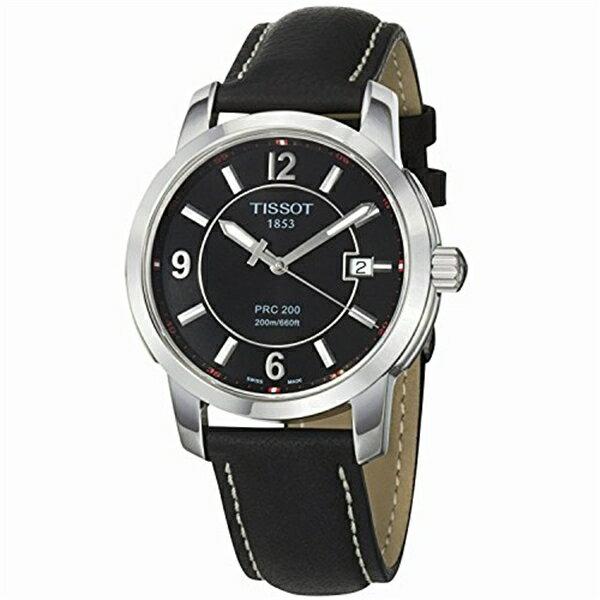 ティソ Tissot 腕時計 メンズ 時計 Tissot Men's T0144101605700 PRC 200 Black Dial Watch