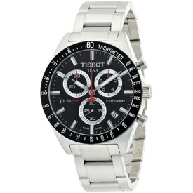 ティソ Tissot 腕時計 メンズ 時計 Tissot Men's T0444172105100 PRS 516 Black Chronograph Dial Watch
