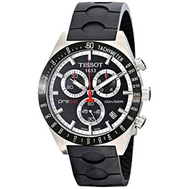 ティソ Tissot 腕時計 メンズ 時計 Tissot Men's T0444172705100 Prs-516 Black Dial Chronograph Rubber Strap Watch