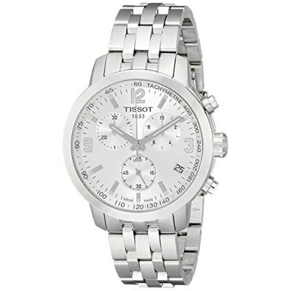 ティソ Tissot 腕時計 メンズ 時計 Tissot Men's T0554171103700 PRC200 Analog Display Quartz Silver Watch