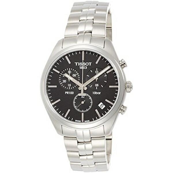 ティソ Tissot 腕時計 メンズ 時計 Tissot T1014171105100 Pr100 Mens Watch - Black Dial, Chronograph