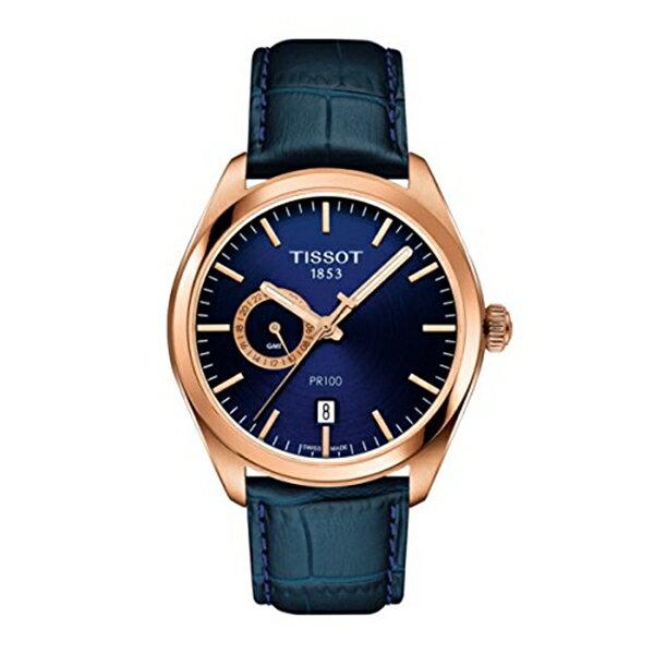 ティソ Tissot 腕時計 メンズ 時計 Tissot T101.452.36.041.00 Men's Watch PR 100 Gent Dualtime Blue 39mm Stainless Steel