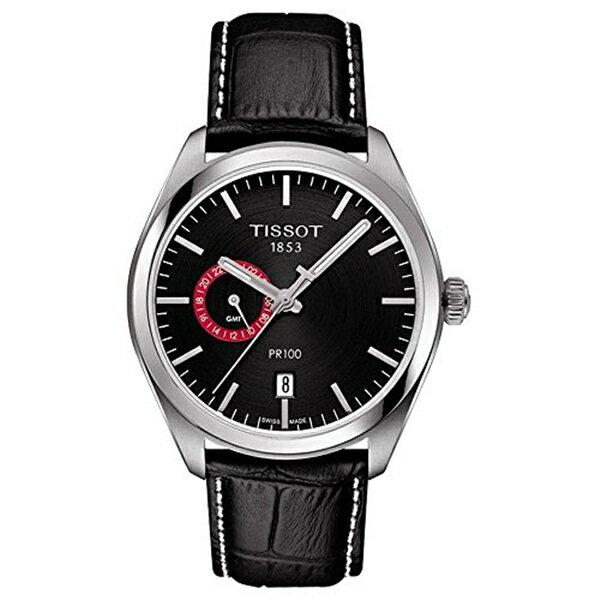 ティソ Tissot 腕時計 メンズ 時計 Tissot T101.452.16.051.00 Men's Watch PR 100 Gent Dualtime Black 39mm Stainless Steel