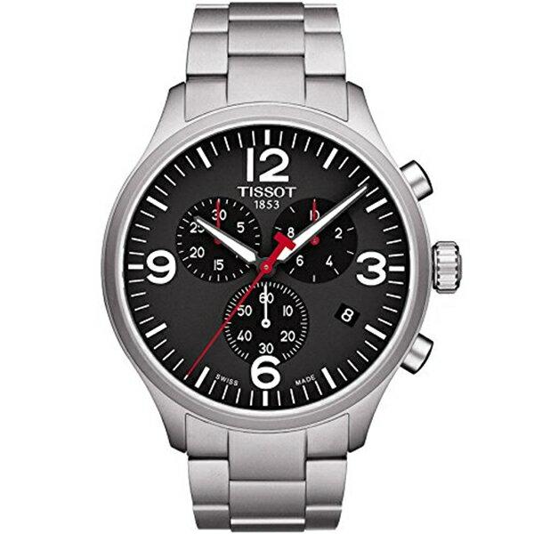 ティソ Tissot 腕時計 メンズ 時計 Tissot T116.617.11.057.00 Men's Watch Silver 45mm Stainless Steel Chrono XL