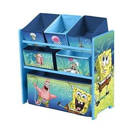 スポンジボブ おもちゃ 収納 ラック おもちゃ箱 お片付け Delta Children Multi-Bin Toy Organizer, Nickelodeon Spongebob Squarepants