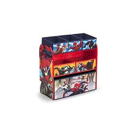 スパイダーマン マーベル おもちゃ 収納 ラック おもちゃ箱 お片付け Delta Children Multi-Bin Toy Organizer, Marvel Spider-Man