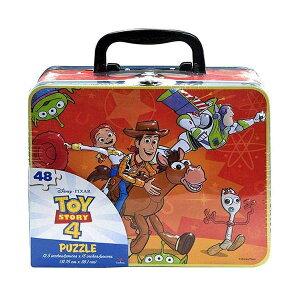 トイストーリー4 ジグソーパズル ボックス 持ち運びバッグ おもちゃ グッズ Toy Story 4 Large Lunch Tin Box with 48pc Puzzle Inside