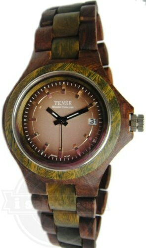 【Tense Wood Watches テンス メンズ 腕時計 G4302SG Sandalwood Watch】