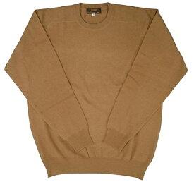 【OUTLET】 カシミア100% カラー限定:キャメル カシミヤ セーター メンズ M-LL 2310 ニット カシミアセーター 送料無料 楽ギフ_包装 カシミヤ 100% 試験鑑定済
