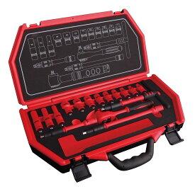 Pro-Auto P-E317F 差込角9.5mm絶縁 工具セット 17ピース (トルクレンチ付) プロオート SEK SUEKAGE スエカゲツール
