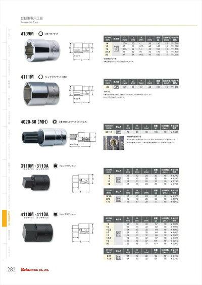 コーケン_1/2(12.7mm)SQ._ドレンプラグソケット_12mm_4110M-12