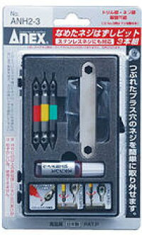 卸下固定螺钉 * 寇舔了舔 M2.5 8 对应为 bit 3 件宽范围 (用于加工用油不锈钢年龄) _ANH2-3