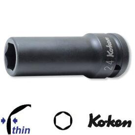 """Ko-ken 16301M-19 3/4""""sq. 薄肉 インパクト ロングソケット 19mm コーケン / 山下工研"""