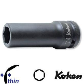 """柯肯 16301 M 24 3 / 4""""长的平方薄影响插座 24 毫米 Koken Koken / 山下大学"""