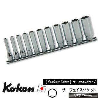 """Ko-ken RS2310M/11 1/4""""sq. 附带safeisudipusokettorerusetto 11 ka组纯正的透明的收藏盒子的KO-KEN Koken/山下工研究室"""