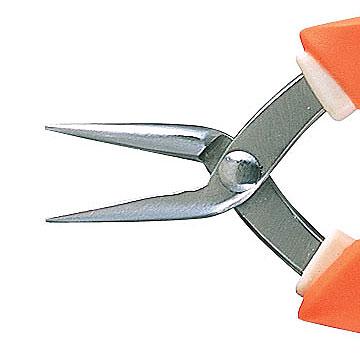 【あす楽対応】《ビーズの道具》アネックス(ANEX)ステンレス製精密ヤットコ片丸(●■)ソフトグリップタイプ252