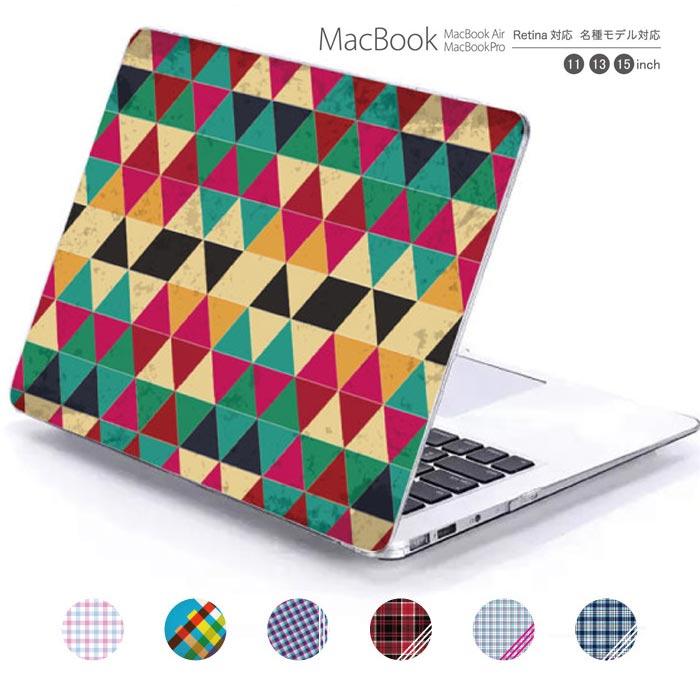 macbook pro air 13 15 インチ ケース カバー macbookpro シェルケース macbookair パソコンケース PC保護ケース マックケース マックブック mac book マッキントッシュ チェック チェック柄 模様 デザイン